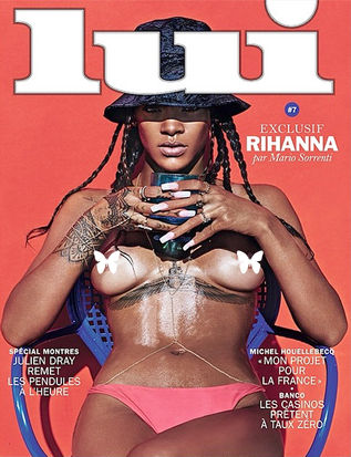Rihanna Goes Topless